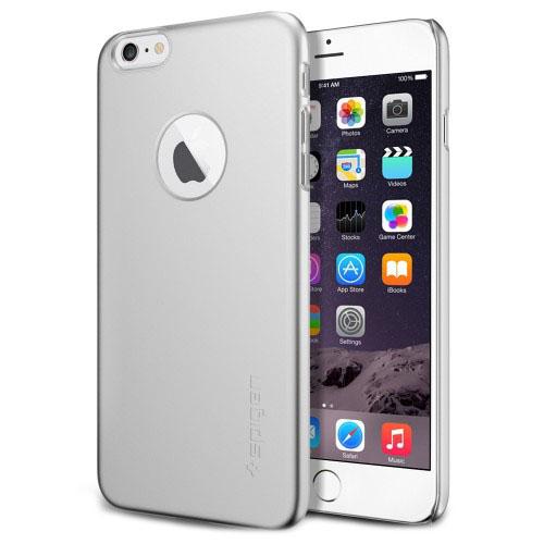 Чехол Spigen Thin Fit A для iPhone 6 Plus (5,5) серебристый SGP10888Чехлы для iPhone 6S Plus<br>Spigen Thin Fit A подчеркнёт безупречный стиль вашего iPhone 6 Plus.<br><br>Цвет товара: Серебристый<br>Материал: Поликарбонат