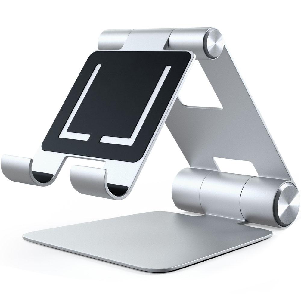 Подставка Satechi R1 Aluminum Hinge Holder Foldable Stand для iPad серебристая (ST-R1)Докстанции/подставки<br>Универсальная и очень удобная подставка!<br><br>Цвет товара: Серебристый<br>Материал: Алюминий
