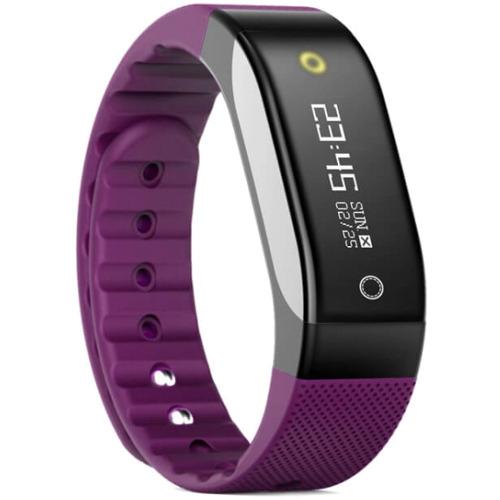 Фитнес-браслет SMA Coach фиолетовыйБраслеты, кардиодатчики<br>SMA Coach – это фитнес-трекер со встроенным датчиком сердечного ритма и функциями смарт-часов.<br><br>Цвет товара: Фиолетовый<br>Материал: Пластик, силикон