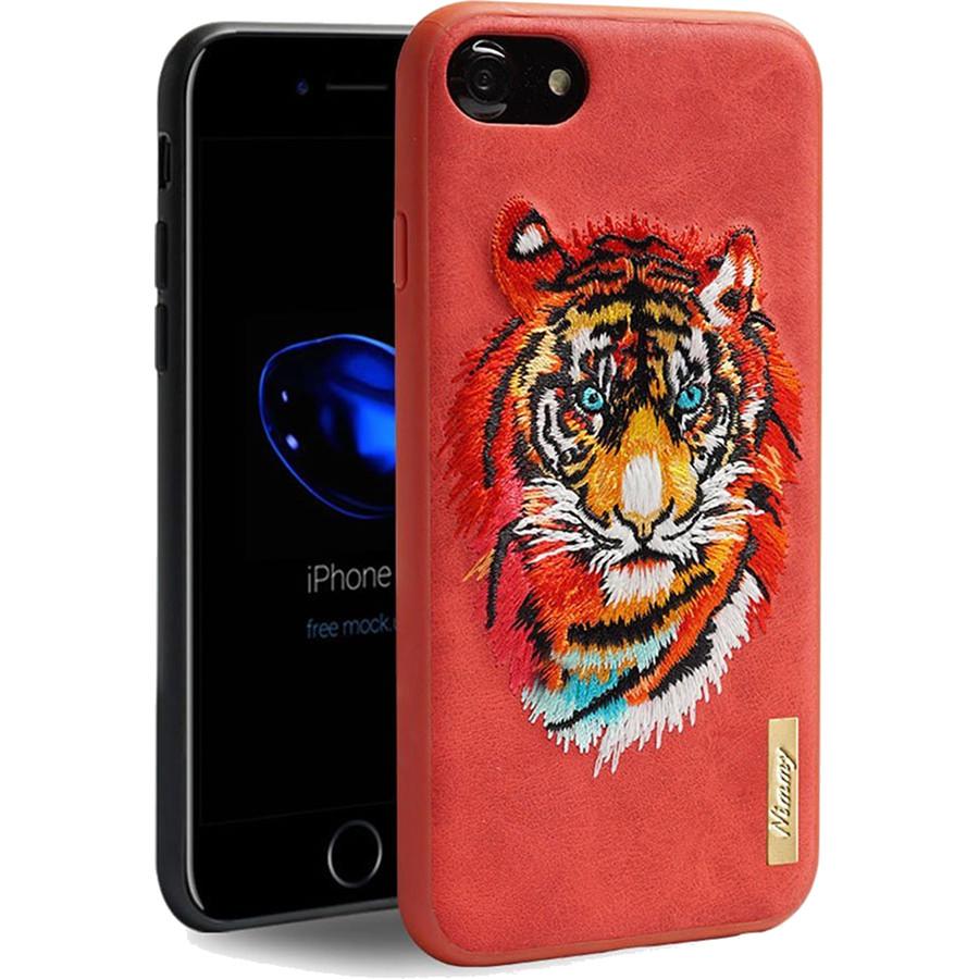 Чехол Nimmy Animal Denim для iPhone 7 / iPhone 8 (Тигр) красныйЧехлы для iPhone 7<br>Оригинальный и надёжный чехол Nimmy Animal Denim притягивает взгляд окружающих с первой секунды.<br><br>Цвет: Красный<br>Материал: Пластик, силикон, текстиль