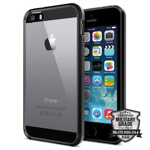 Чехол Spigen Ultra Hybrid для iPhone SE/5S/5 чёрный (SGP10515)Чехлы для iPhone 5s/SE<br>Чехол Spigen Ultra Hybrid для iPhone SE чёрный (ECO Package) (SGP10515)<br><br>Цвет товара: Чёрный<br>Материал: Пластик