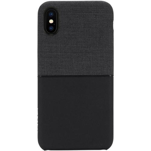 Чехол Incase Textured Snap Case для iPhone X чёрныйЧехлы для iPhone X<br><br><br>Цвет товара: Чёрный<br>Материал: Поликарбонат, текстиль