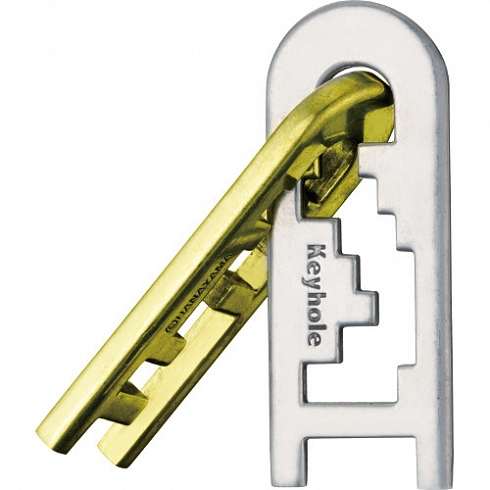 Головоломка Hanayama Cast Puzzle Keyhole уровень сложности 4 (Япония)Головоломки Hanayama (Япония)<br>Головоломка Cast Puzzle  Keyhole level 4 [ арт. 473743 ]<br><br>Материал: железо
