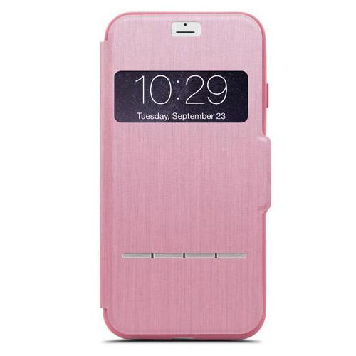 Чехол Moshi SenseCover для iPhone 7 розовыйЧехлы для iPhone 7<br>Чехол Moshi SenseCover для iPhone 7 розовый<br><br>Цвет товара: Розовый<br>Материал: Поликарбонат, полиуретановая кожа