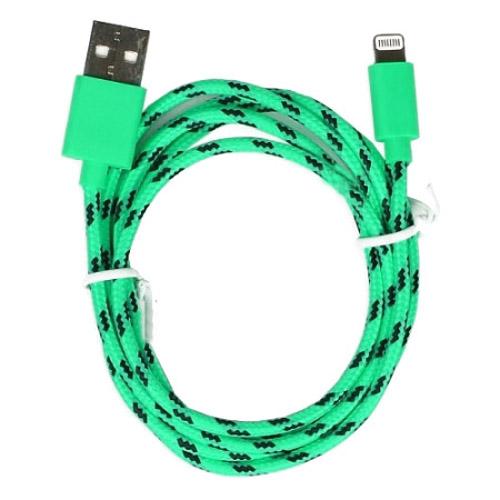 Кабель Smartbuy USB — 8-pin для Apple (iK-512n) зелёныйПровода и кабели<br>Кабель Smartbuy USB — 8-pin в нейлоновой оплетке, которая делает его практически неразрывным.<br><br>Цвет товара: Зелёный<br>Материал: Нейлон, пластик, металл