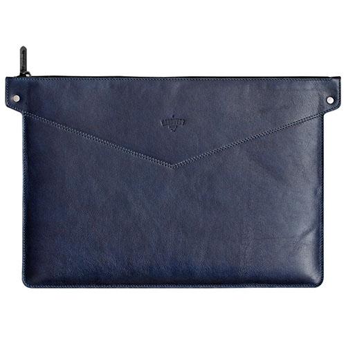 Чехол Handwers Bering для MacBook 15 синяяСумки для ноутбуков<br>Сумка Handwers Bering для ноутбуков 15 Синяя<br><br>Цвет товара: Синий<br>Материал: Натуральная кожа, войлок