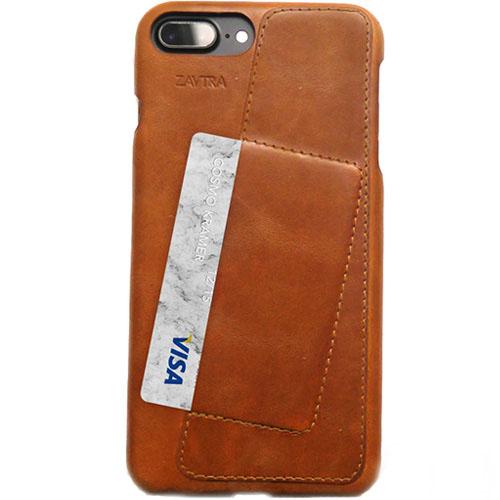 Чехол ZAVTRA для iPhone 7 Plus (Айфон 7 Плюс) коричневыйЧехлы для iPhone 7/7 Plus<br>Элегантность и минимализм<br><br>Цвет товара: Коричневый<br>Материал: Пластик, натуральная кожа
