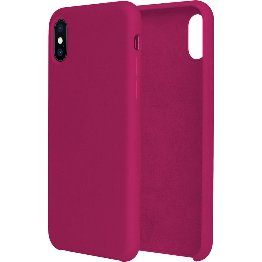 Силиконовый чехол G-CASE Original Flexible Silicone Gel Case для iPhone X малиновыйЧехлы для iPhone X<br>Чехол из гелеобразного силикона с мягкой подкладой из микрофибры. Он гибкий и лёгкий, идеально облегающий корпус мощного смартфона iPhone X.<br><br>Цвет товара: Розовый<br>Материал: Гелеобразный гиппоаллергенный силикон, микрофибра