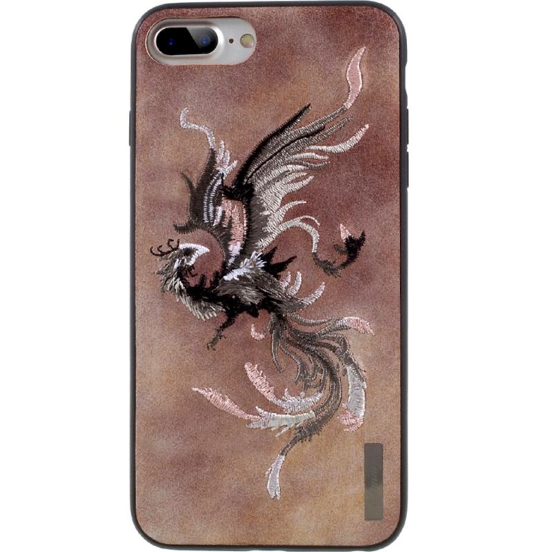 Чехол Nimmy Fantasy Denim для iPhone 7 Plus / 8 Plus (Феникс) розовыйЧехлы для iPhone 7 Plus<br>Чехлы Nimmy Fantasy Denim (стиль 15) — это тандем стиля и качества.<br><br>Цвет товара: Розовый<br>Материал: Пластик, силикон, текстиль