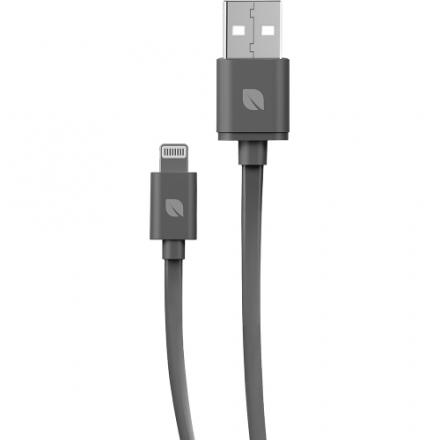 Кабель Incase Flat Lightning Cable (3 метра)Провода и кабели<br>Кабель Incase Lightning to USB Flat Cable - темно-серый<br><br>Материал: Пластик, металл