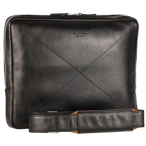 Сумка Ray Button Cambridge для MacBook 13 чёрная (152C1B)Сумки для ноутбуков<br>Ray Button Cambridge - компактная сумка для переноски ноутбука.<br><br>Цвет товара: Чёрный<br>Материал: Натуральная кожа КРС, металлическая молния YKK