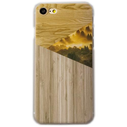 Чехол iPapai «Wood» (Туман) для iPhone 7Чехлы для iPhone 7<br>Стильный и надёжный чехол iPapai с уникальным дизайнерским принтом.<br><br>Цвет товара: Разноцветный<br>Материал: Пластик