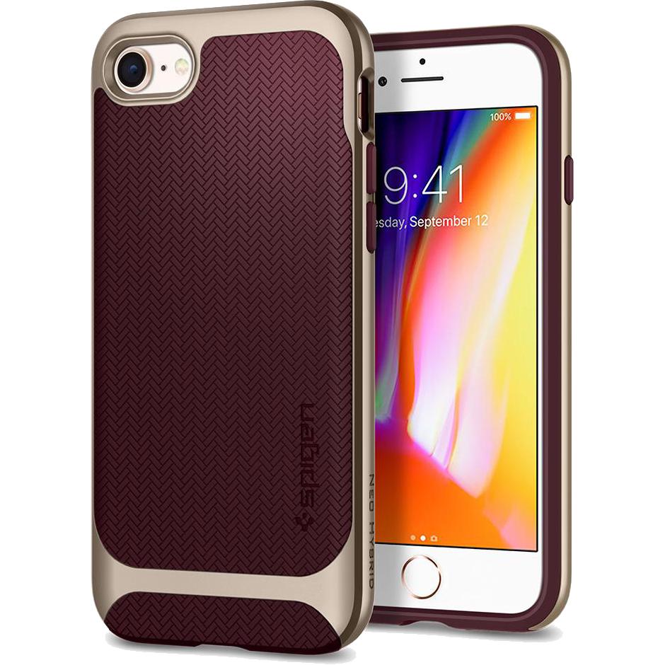 Чехол Spigen Neo Hybrid Herringbone для iPhone 8/7 бордовый Burgundy (054CS22198)Чехлы для iPhone 7<br>Spigen Neo Hybrid Herringbone — стильный и прочный чехол для мощного смартфона Apple iPhone 8.<br><br>Цвет товара: Красный<br>Материал: Поликарбонат, термопластичный полиуретан
