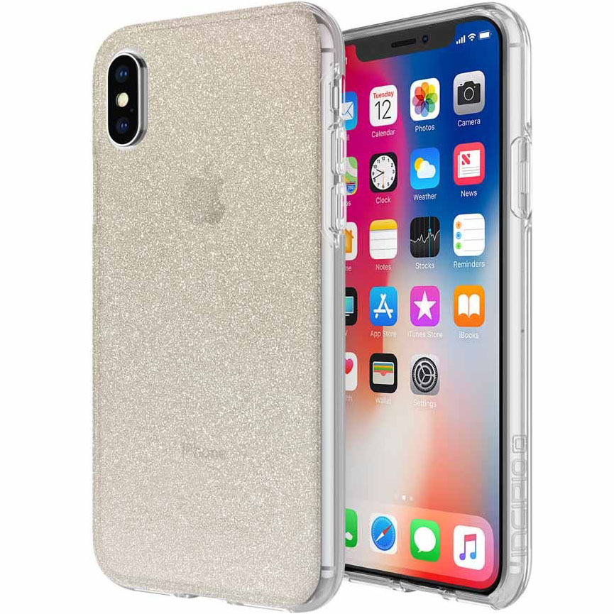 Чехол Incipio Design Series Classic для iPhone X золотой (Champagne Glitter)
