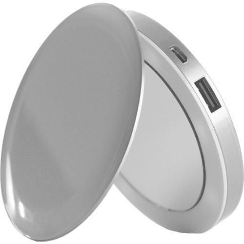 Внешний аккумулятор-зеркало HyperJuice Pearl 3000 мАч серебристыйДополнительные и внешние аккумуляторы<br>Внешний аккумулятор-зеркало HyperJuice Pearl 3000 мАч серебристый<br><br>Цвет товара: Серебристый<br>Материал: Пластик
