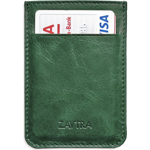Минималистичный кошелек ZAVTRA зелёный от iCases