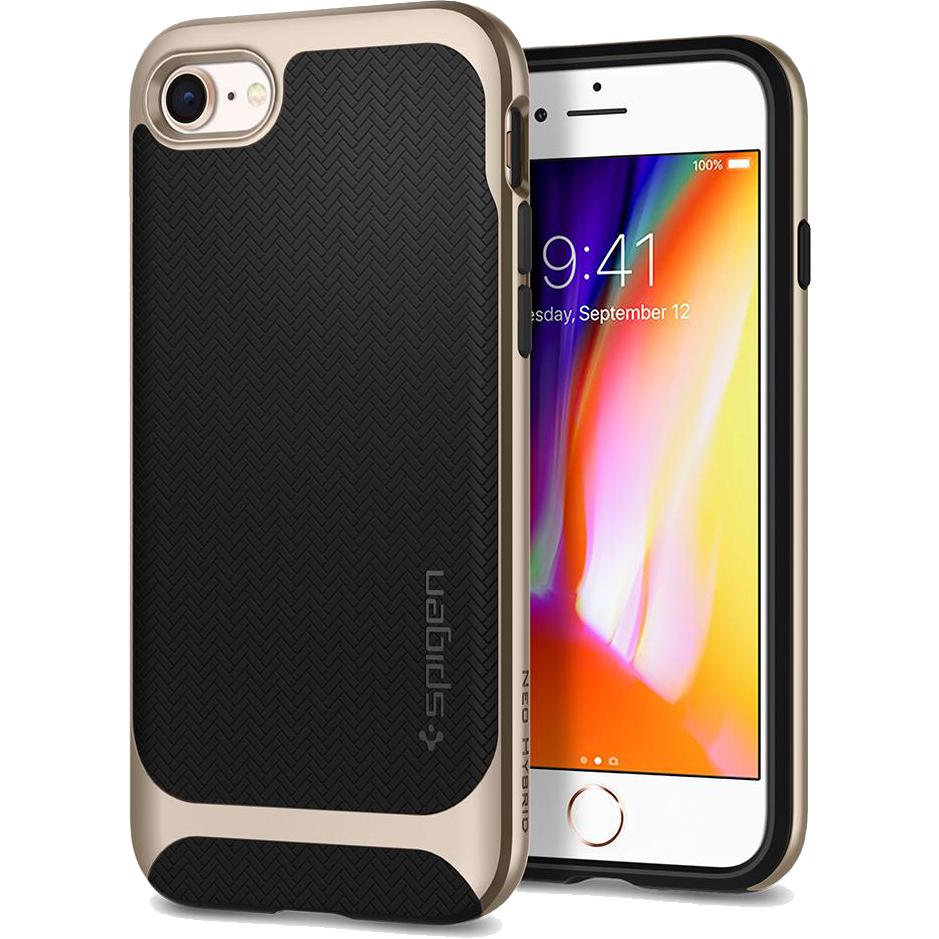 Чехол Spigen Neo Hybrid Herringbone для iPhone 8/7 золотистый (054CS22201)Чехлы для iPhone 7<br>Spigen Neo Hybrid Herringbone — стильный и прочный чехол для мощного смартфона Apple iPhone 8.<br><br>Цвет товара: Золотой<br>Материал: Поликарбонат, термопластичный полиуретан