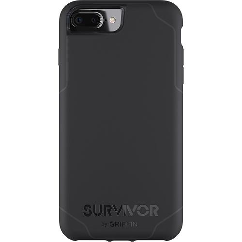 Чехол Griffin Survivor Journey для iPhone 7 Plus (Айфон 7 Плюс) чёрный/серыйЧехлы для iPhone 7 Plus<br>Соответствует военным стандартам!<br><br>Цвет товара: Чёрный<br>Материал: Пластик
