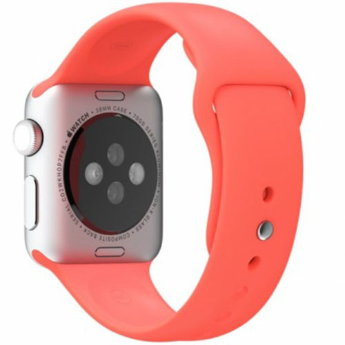 Ремешок силиконовый Rock Sport Band для Apple Watch 42mm РозовыйРемешки для Apple Watch<br>Ремешок силиконовый Rock Sport Band для Apple Watch 42mm - розовый<br><br>Цвет товара: Розовый<br>Материал: Силикон