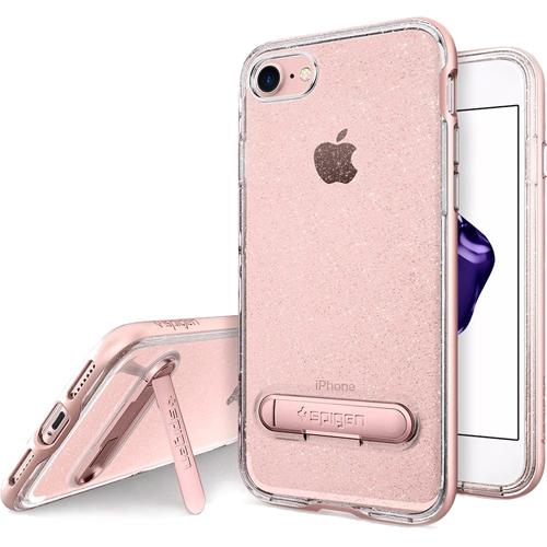 Чехол Spigen Crystal Hybrid Glitter для iPhone 7 (Айфон 7) розовый кварц (SGP-042CS21213)Чехлы для iPhone 7<br>Ультратонкий и ультралёгкий и кристально-прозрачный чехол Spigen Crystal Hybrid Glitter создан специально для iPhone 7.<br><br>Цвет товара: Розовое золото<br>Материал: Термопластичный полиуретан, поликарбонат