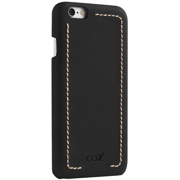Чехол Cozistyle Leather Wrapped Case для iPhone 6 Plus/6s Plus чёрныйЧехлы для iPhone 6/6s Plus<br>Прочные полимеры, высококачественная натуральная кожа, изысканные текстуры и благородные оттенки.<br><br>Цвет товара: Чёрный<br>Материал: Натуральная кожа, текстиль, поликарбонат