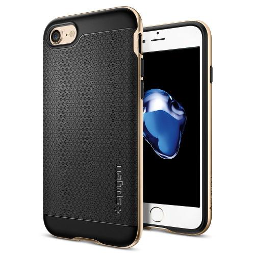 Чехол Spigen Neo Hybrid для iPhone 7 (Айфон 7) золотой (SGP-042CS20675)Чехлы для iPhone 7<br>Чехол Spigen Neo Hybrid для iPhone 7 (Айфон 7) золотой (SGP-042CS20675)<br><br>Цвет товара: Золотой<br>Материал: Поликарбонат, полиуретан