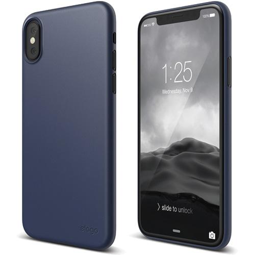 Чехол Elago Inner Core для iPhone X синийЧехлы для iPhone X<br>Ультратонкий и легкий, всего 0.5 мм, чехол Inner Core для настоящих ценителей минимализма!<br><br>Цвет: Синий<br>Материал: Пластик