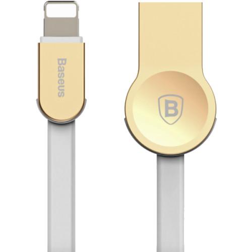 Кабель Baseus Zinc Alloy USB — Lightning (1 метр) золотистыйКабели Lightning<br>Baseus Zinc Alloy  — это кабель из TPE и цинкового сплава от Baseus, для заряда и синхронизации ваших портативных устройств с разъемом Lightning.<br><br>Цвет товара: Золотой<br>Материал: Цинковый сплав, пластик