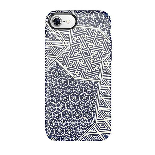 Чехол Speck Presidio Inked для iPhone 7 (Айфон 7) синий матовый/морская волнаЧехлы для iPhone 7<br>Чехол Speck Inked Presidio для iPhone 7 - The Blue Matte/Maribe Blue<br><br>Цвет товара: Синий<br>Материал: Поликарбонат
