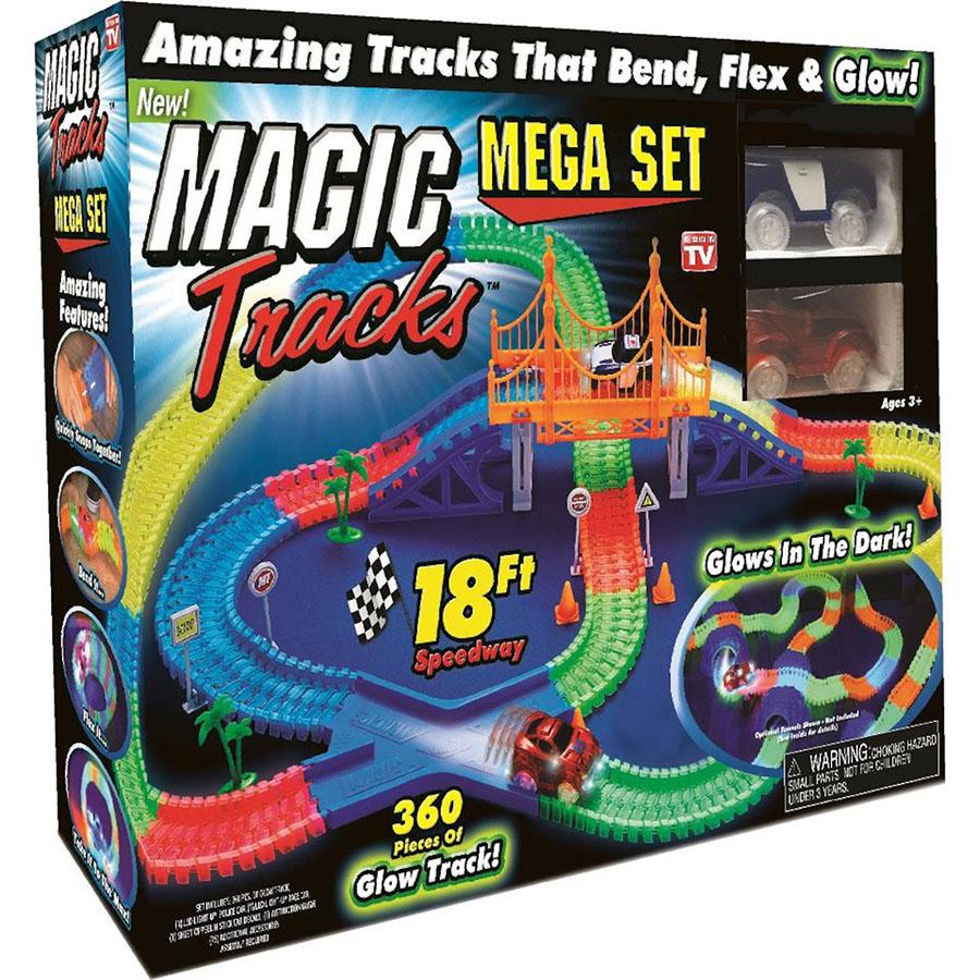 Светящийся конструктор Magic Tracks Mega Set (360 деталей)3D пазлы и конструкторы<br>Играть с Magic Tracks вам и вашим детям будет невероятно весело!<br><br>Цвет: Разноцветный<br>Материал: Пластик<br>Модификация: 360