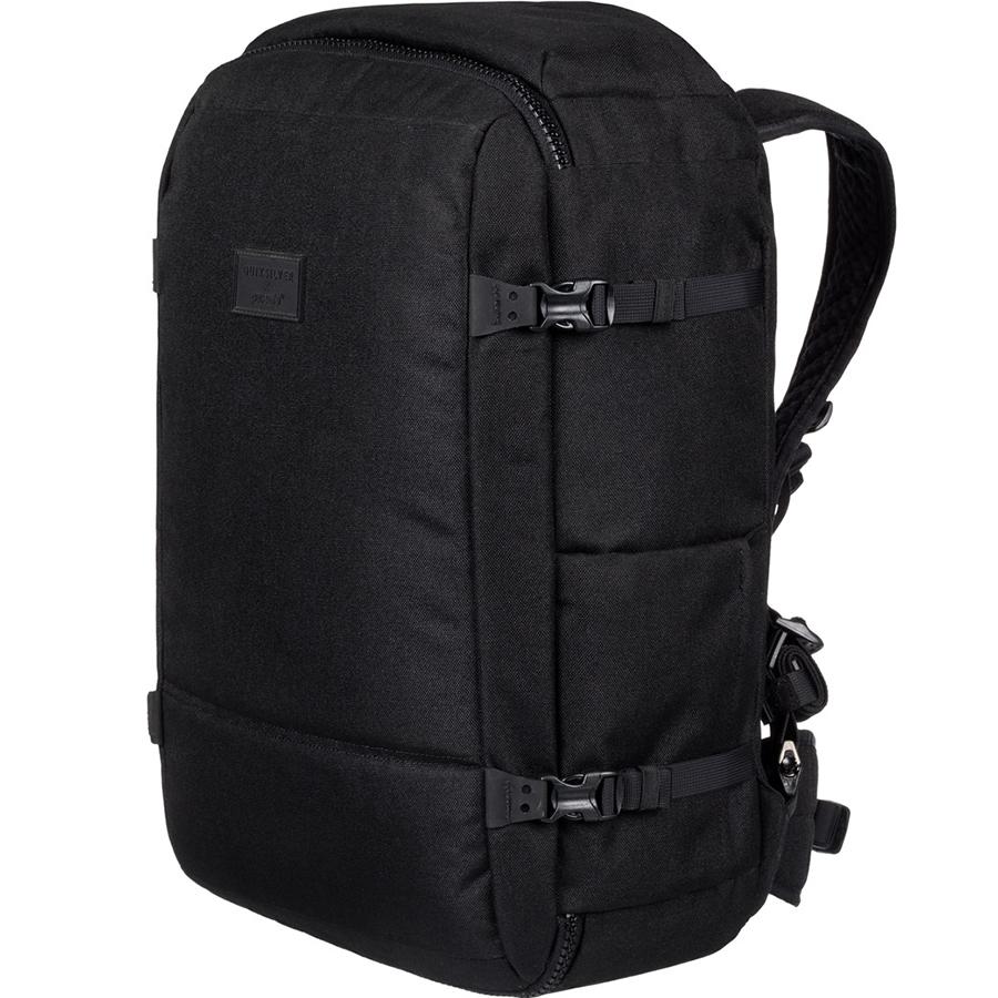 Pacsafe x Quiksilver Anti-Theft Carry-On Pack 40L чёрныйРюкзаки<br>Результат работы двух ведущих мировых брендов, который будет вашим надежным спутником, особенно в путешествиях!<br><br>Цвет: Чёрный<br>Материал: Текстиль, нержавеющая сталь, пластик