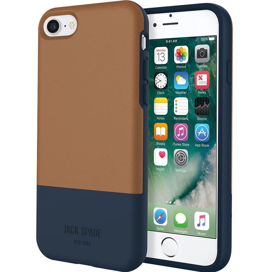 Чехол Jack Spade Color-Block Case для iPhone 7 коричневый/синийЧехлы для iPhone 7<br>Jack Spade Color-Block Case подчеркнёт ваш безупречный вкус и будет притягивать взгляды окружающих.<br><br>Цвет товара: Коричневый<br>Материал: Поликарбонат, эко-кожа