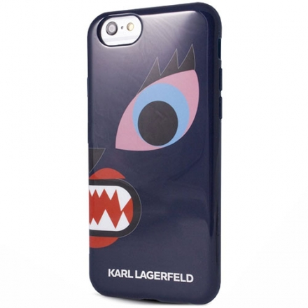 Чехол Karl Lagerfeld Monster для iPhone 6/6s (4,7) СинийЧехлы для iPhone 6/6s<br>Чехол Lagerfeld Monster для iPhone 6 KHLP6MCR<br><br>Цвет товара: Синий<br>Материал: Пластик