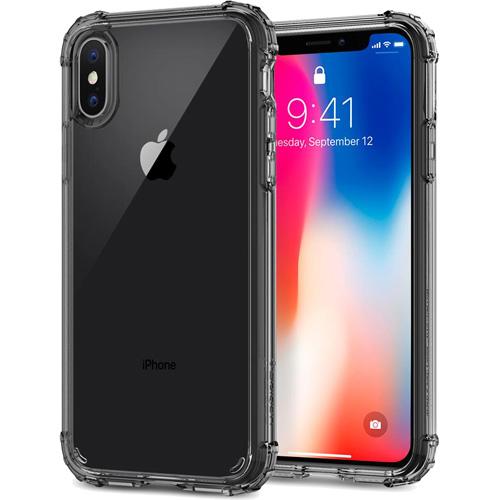 Чехол Spigen Crystal Shell для iPhone X дымчатый кристалл (057CS22142)Чехлы для iPhone X<br>Сочетание поликарбоната и термопластичного полиуретана придают чехлу Crystal Shell превосходные защитные и амортизирующие свойства.<br><br>Цвет товара: Серый<br>Материал: Термопластичный полиуретан, поликарбонат