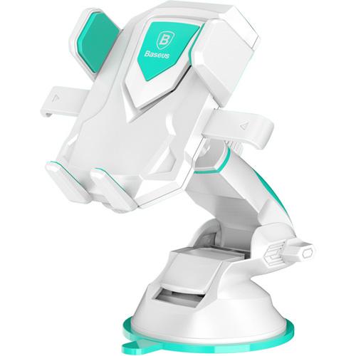 Автомобильный держатель Baseus Robot Car Bracket With Sucker белыйАвтодержатели<br>Автомобильный держатель Baseus Robot Car Bracket With Sucker — отличный выбор для автолюбителей!<br><br>Цвет товара: Белый<br>Материал: Пластик, силикон