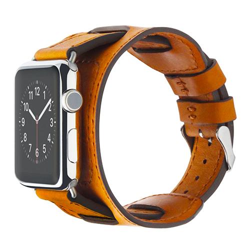 Ремешок Cozistyle Wide Leather Band для Apple Watch 42мм светло-коричневый