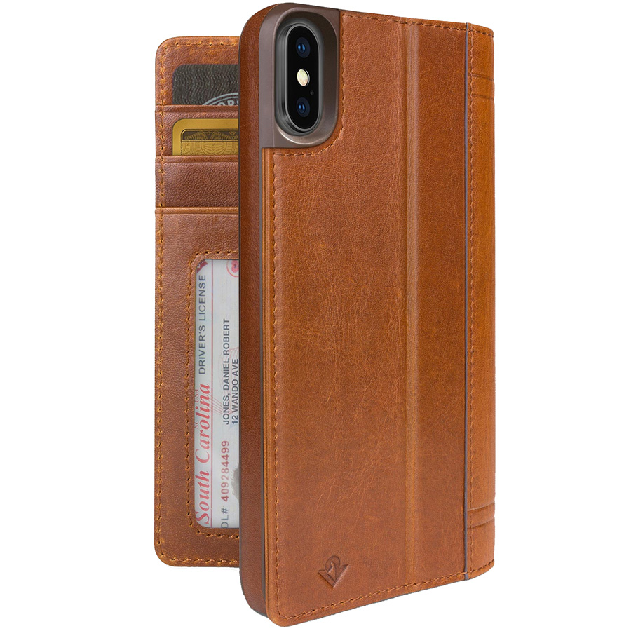 Чехол Twelve South Journal для iPhone X коричневыйЧехлы для iPhone X<br>Twelve South Journal — отличный способ защитить смартфон и взять с собой немного денег без бумажника.<br><br>Цвет товара: Коричневый<br>Материал: Поликарбонат, эко-кожа