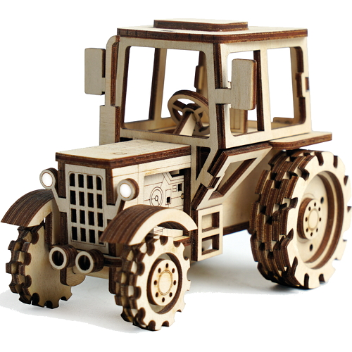 Конструктор 3D Lemmo деревянный Трактор3D пазлы, конструкторы, головоломки<br>Конструктор Lemmo 3D деревянный, подвижный - Трактор<br><br>Цвет товара: Бежевый<br>Материал: Натуральное дерево