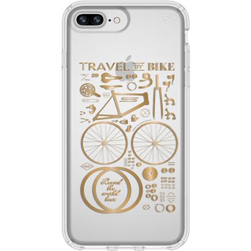 Чехол Speck Presidio Clear + Print для iPhone 6s/7/8 Plus (City Bike Metallic) золотой/прозрачныйЧехлы для iPhone 6/6s Plus<br>Speck Presidio Clear + Print защитит ваш iPhone и придаст ему презентабельный внешний вид!<br><br>Цвет: Золотой<br>Материал: Поликарбонат