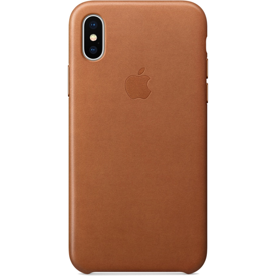Кожаный чехол Apple Leather Case для iPhone X золотисто-коричневый (Saddle Brown)Чехлы для iPhone X<br>Кожаный чехол от Apple — отличное дополнение к вашему iPhone X.<br><br>Цвет товара: Коричневый<br>Материал: Натуральная кожа