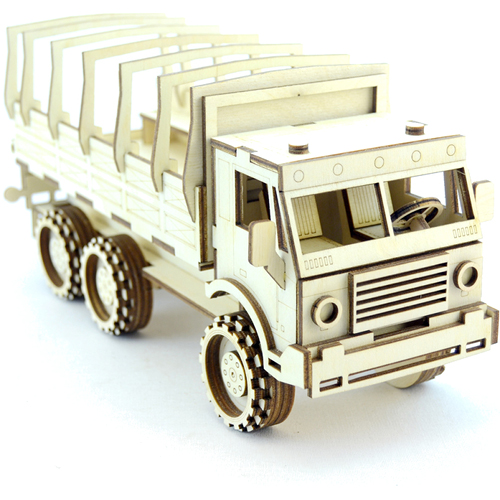 Конструктор 3D Lemmo деревянный Военный грузовик3D пазлы, конструкторы, головоломки<br>Компания «Lemmo» — это отечественный производитель детских развивающих конструкторов из натурального дерева.<br><br>Цвет товара: Бежевый<br>Материал: Натуральное дерево