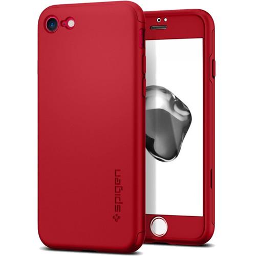 Чехол Spigen Thin Fit 360 для iPhone 7/ iPhone 8 красный (SGP-042CS21726)Чехлы для iPhone 7<br>Ультратонкий и невероятно лёгкий, словно пёрышко, чехол Spigen Thin Fit 360 практически не прибавит объёма и веса мощному смартфону iPhone 7.<br><br>Цвет товара: Красный<br>Материал: Поликарбонат