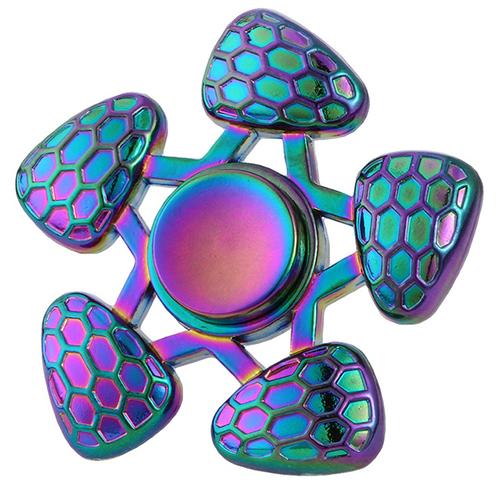 Спиннер Fidget Glory Rainbow Series Соты SP4574Игрушки-антистресс<br>Благодаря покрытию «хамелеон» спиннер Fidget Glory захватывает внимание с первой секунды!<br><br>Цвет товара: Разноцветный<br>Материал: Металл