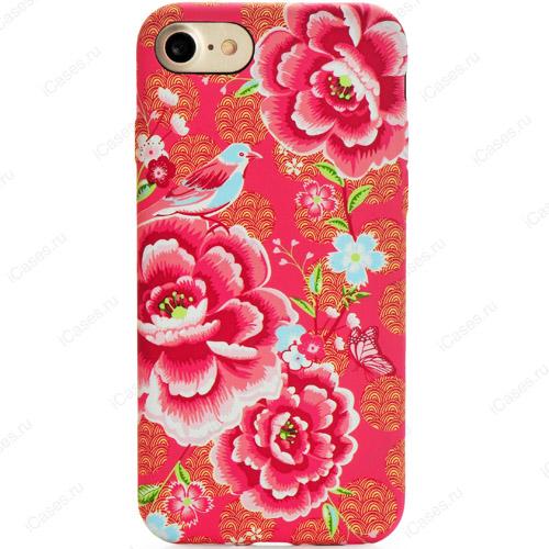 Силиконовый чехол Luxo для iPhone 7/ iPhone 8 Цветы (стиль 4)Чехлы для iPhone 7<br>Стильные и оригинальные чехлы Luxo с уникальным дизайнерским принтом являются превосходной комбинацией стиля и надежности!<br><br>Цвет товара: Красный<br>Материал: Силикон