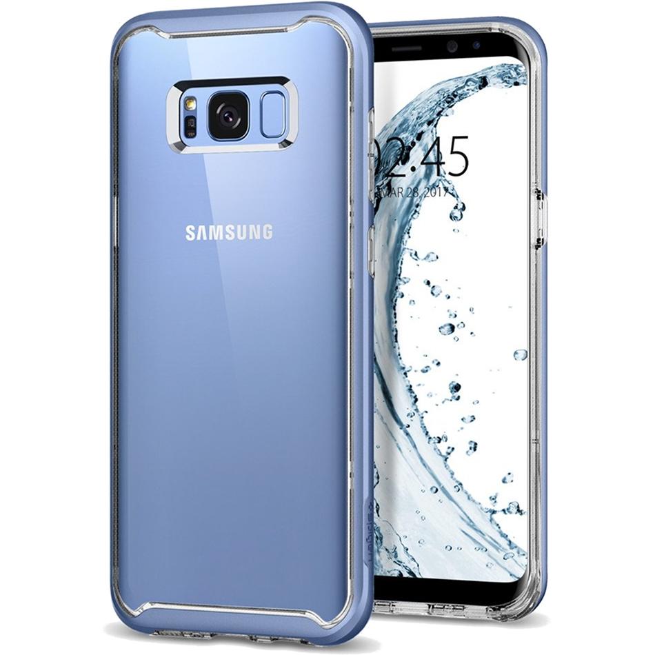 Чехол Spigen Neo Hybrid Crystal для Samsung Galaxy S8 голубой коралл (565CS21605)Чехлы для Samsung Galaxy S8/S8 Plus<br>Ультратонкий и ультралёгкий и кристально-прозрачный чехол Spigen Neo Hybrid Crystal создан специально для флагмана Samsung — Galaxy S8!<br><br>Цвет товара: Голубой<br>Материал: Термопластичный полиуретан, поликарбонат