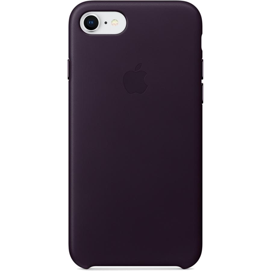 Кожаный чехол Apple Leather Case для iPhone 7/8 баклажановый (Dark Aubergine)Чехлы для iPhone 7<br>Ни один чехол в мире не сочетается с мощным Айфон лучше, чем оригинальный Apple Case.<br><br>Цвет товара: Фиолетовый<br>Материал: Натуральная кожа