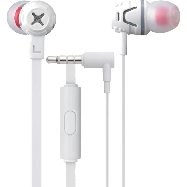 Наушники с микрофоном Cresyn C450S белыеВнутриканальные наушники<br>Наушники Cresyn C450S White<br><br>Цвет товара: Белый<br>Материал: Пластик, силикон