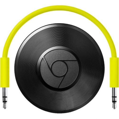 Медиаплеер Google Chromecast AudioAppleTV и Chromecast<br>Медиаплеер Google Chromecast Audio<br><br>Цвет товара: Чёрный<br>Материал: Металл, пластик