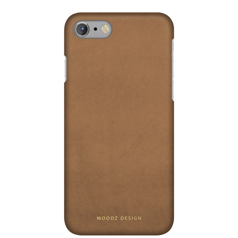Чехол Moodz Nubuck Hard для iPhone 7 (Айфон 7) Sand бежевый