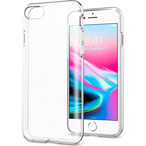 Чехол Spigen Liquid Crystal для iPhone 8/7 кристально-прозрачный (054CS22203)Чехлы для iPhone 7<br>Гибкий чехол из термопластичного полиуретана ТПУ даёт превосходную амортизацию при любых шоковых нагрузках.<br><br>Цвет товара: Прозрачный<br>Материал: Термопластичный полиуретан